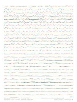"""""""datenwerk: mensch"""" © richard kriesche, 2001 – fragmente der gene F2 und F5"""